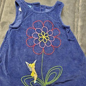 Tinkerbell Disney Dress Sleeveless Blue 6-9 Mo